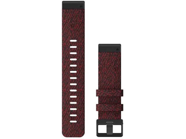Garmin QuickFit Correa Reloj de Nylon 22mm para Fenix 6S, rojo
